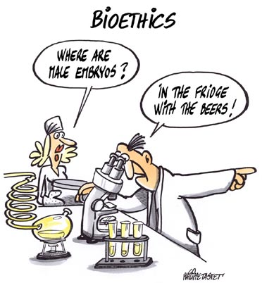 cartoon press : bioethics