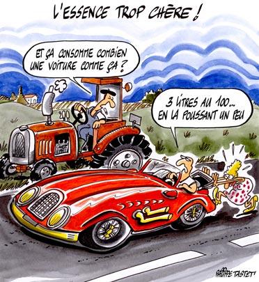 dessin : L'essence trop chère
