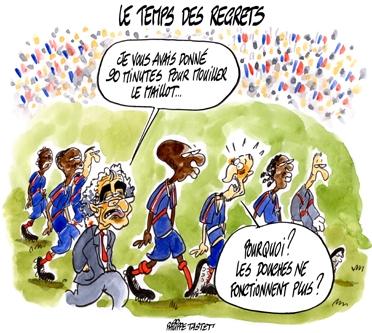 dessin humoristique foot : equipe de france de football coupe du monde