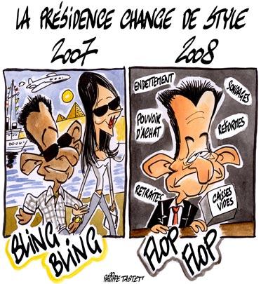 dessin : La présidence change de style