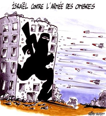 dessin : Guerre au Liban, Israël contre l'armée des ombres