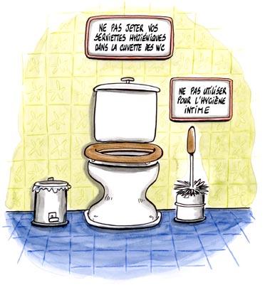 dessin humoristique : wc